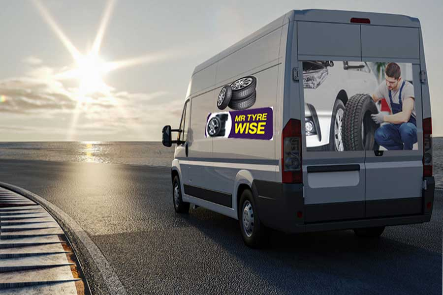 mobile tyre repairs van